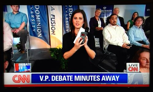 Dials explained on CNN VP debate