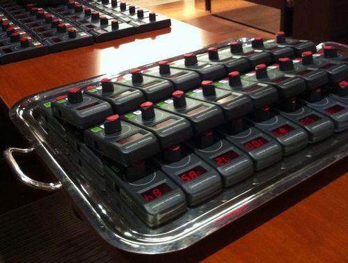 Dials on tray